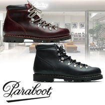Paraboot Street Style Plain Leather Boots