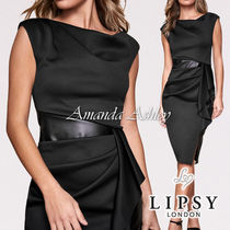 Lipsy Tight Sleeveless Plain Medium Party Style Elegant Style