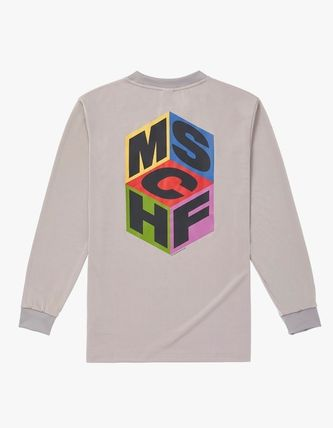 Crew Neck Street Style Long Sleeves Long Sleeve T-shirt Logo