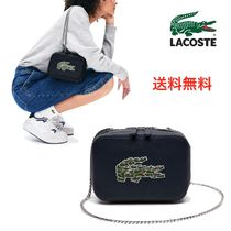 LACOSTE Casual Style Faux Fur Blended Fabrics Street Style