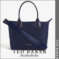 TED BAKER Casual Style Nylon Plain Office Style Totes