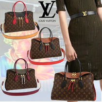 Louis Vuitton Monogram Casual Style 2WAY Leather Office Style