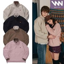 WV PROJECT Pullovers Unisex Street Style Long Sleeves Plain Oversized