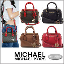 Michael Kors BEDFORD Monogram Casual Style Blended Fabrics 2WAY Plain Leather
