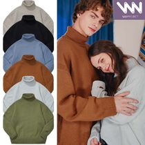 WV PROJECT Pullovers Unisex Nylon Street Style Long Sleeves Plain