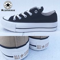 CONVERSE ALL STAR Platform Rubber Sole Lace-up Casual Style Unisex Plain