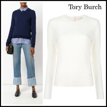 Tory Burch Cashmere Long Sleeves Plain Cashmere