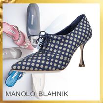 Manolo Blahnik Dots Leather Ankle & Booties Boots
