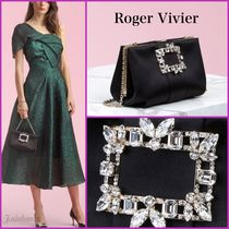Roger Vivier Chain Plain Party Style With Jewels Elegant Style Clutches