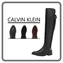 Calvin Klein Casual Style Blended Fabrics Plain Flat Boots