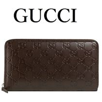 GUCCI Monogram Leather Long Wallet  Long Wallets