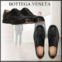 BOTTEGA VENETA Plain Toe Leather Oxfords
