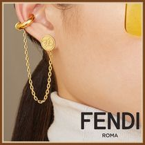 FENDI Casual Style Party Style Elegant Style Earrings
