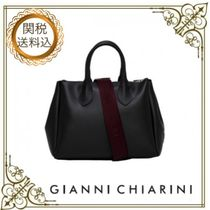 GIANNI CHIARINI Casual Style Plain PVC Clothing Elegant Style Handbags