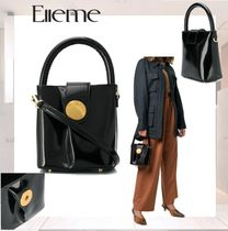 elleme Casual Style 2WAY Leather Shoulder Bags