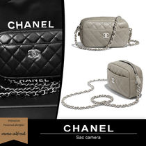 CHANEL Casual Style 2WAY Chain Plain Leather Party Style