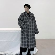 Gingham Other Plaid Patterns Long Chester Coats