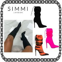 SIMMI Casual Style Suede Street Style Pin Heels