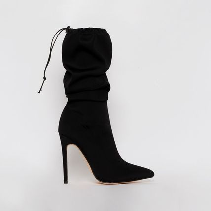 Casual Style Suede Street Style Pin Heels