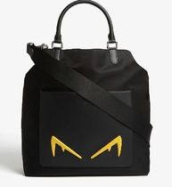 FENDI BAG BUGS Plain Leather Totes