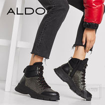ALDO Mountain Boots Round Toe Casual Style Studded Plain Leather