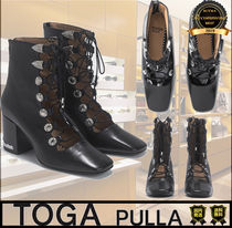 TOGA Casual Style Unisex Street Style Plain Boots Boots
