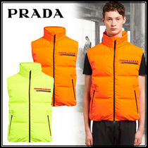 PRADA Nylon Plain Down Jackets