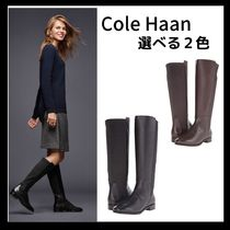 Cole Haan Plain Toe Mountain Boots Casual Style Plain Leather