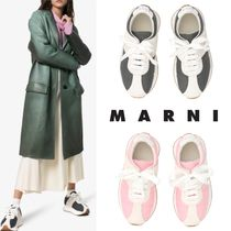 MARNI Rubber Sole Suede Plain Leather Low-Top Sneakers