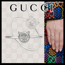 GUCCI Casual Style Unisex Animal Party Style 18K Gold Office Style