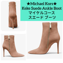 Michael Kors Casual Style Suede Plain Leather Pin Heels Elegant Style