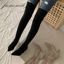 Casual Style Suede Street Style Plain Pin Heels Office Style