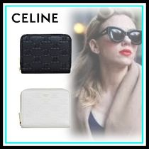 CELINE Triomphe Calfskin Blended Fabrics Home Party Ideas Accessories