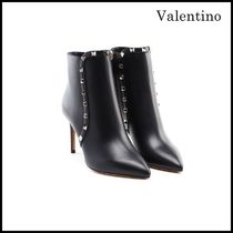 VALENTINO Wedge Leather Wedge Boots
