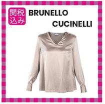 BRUNELLO CUCINELLI Casual Style Silk Long Sleeves Shirts & Blouses