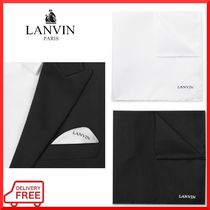 LANVIN Silk Plain Handkerchief