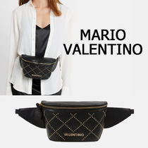 Mario Valentino Casual Style Faux Fur Studded Hip Packs