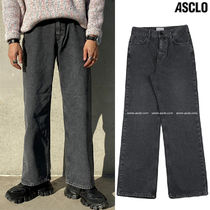 ASCLO Slax Pants Denim Street Style Collaboration Plain Cotton