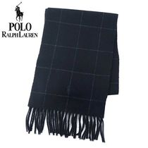 POLO RALPH LAUREN Other Check Patterns Wool Nylon Logo Scarves