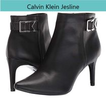 Calvin Klein Casual Style Faux Fur Plain Pin Heels Office Style
