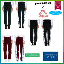 Kappa Tapered Pants Velvet Street Style Collaboration Plain Cotton