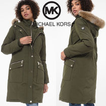 Michael Kors Plain Long Parkas