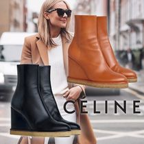 CELINE Casual Style Plain Leather Party Style Office Style