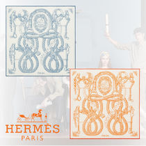 HERMES Cotton Handkerchief