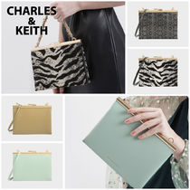 Charles&Keith Zebra Patterns Casual Style Faux Fur Blended Fabrics 3WAY