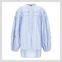 N21 numero ventuno Stripes Cotton Shirts & Blouses