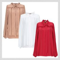 N21 numero ventuno Silk Long Sleeves Plain Shirts & Blouses