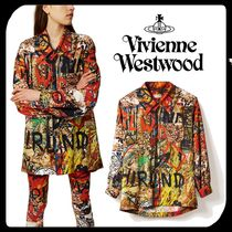 Vivienne Westwood Casual Style Unisex Street Style Long Sleeves Cotton Long
