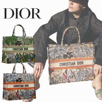 Christian Dior Casual Style Unisex Canvas A4 Office Style Totes