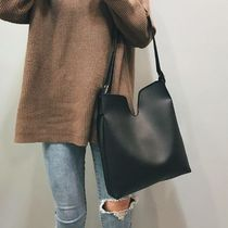 Casual Style Faux Fur Street Style A4 Plain Office Style